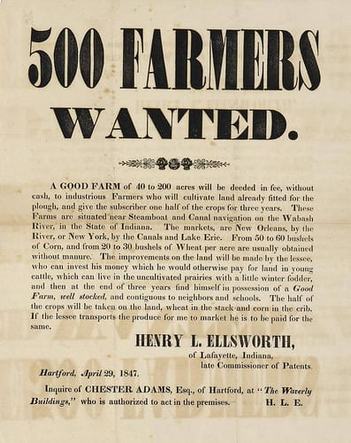 500 Farmers Wanted