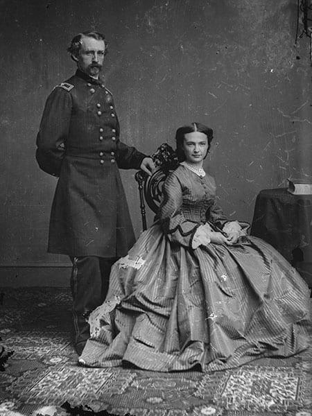 George Armstrong Custer And Elizabeth Bacon Custer Brady Handy