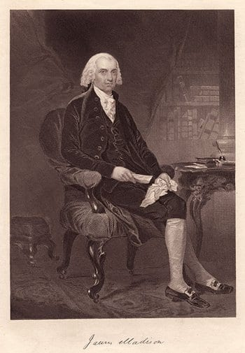 James Madison Sitting