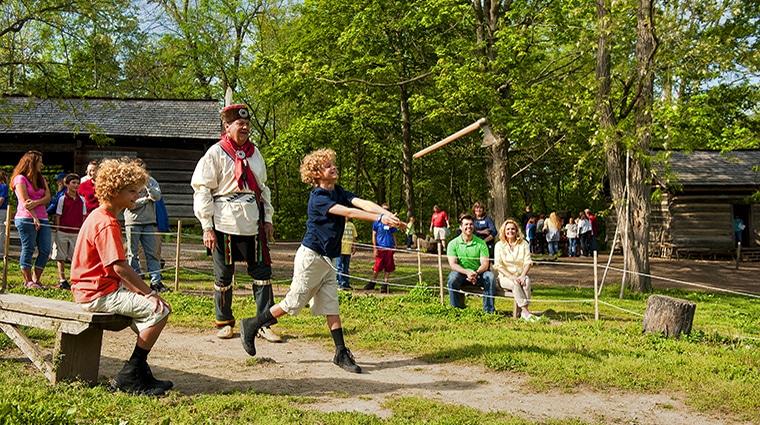 Lenape Indian Camp - Tomahawk Throwing