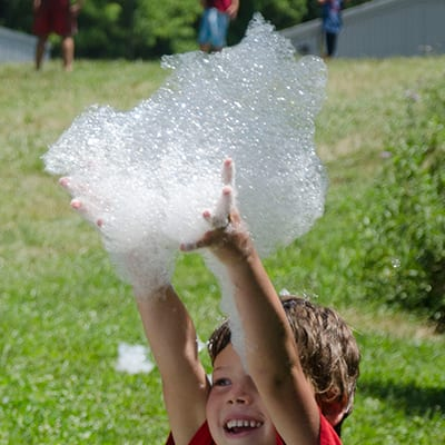 Playtime on the Prairie - Bubble Science