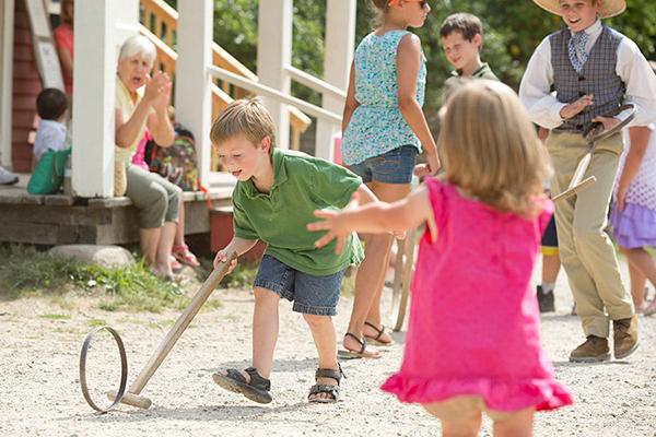 hoop spinning at Conner Prairie