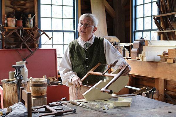 craftsman at Conner Prairie Prairietown