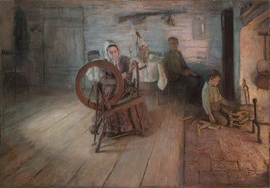 Spinning By Firelight (1894) By Henry Ossawa Tanner, Yale University Art Gallery, Leonard C Hanna, Jr Class Of 1913 Fund