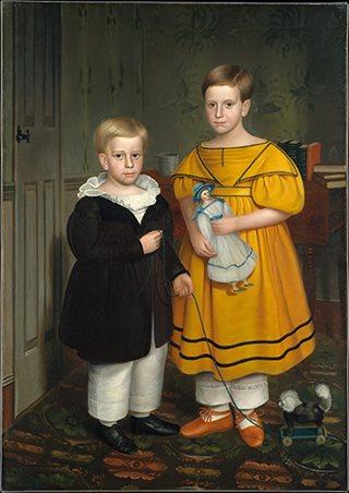 The Raymond Children, 1838 By Robert Peckham,Gift Of Edgar William And Bernice Chrysler Garbisch, 1966, The Metropolitan Museum Of Art