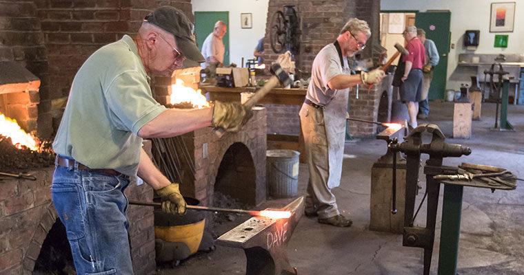 Forging Damascus Steel