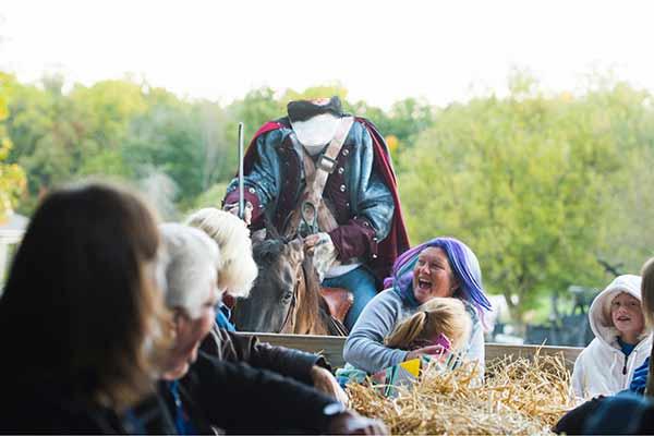 Headless Horseman hay ride