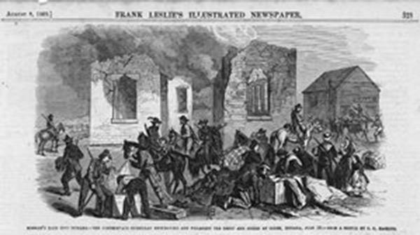 Harper's Morgan's Raid illustration