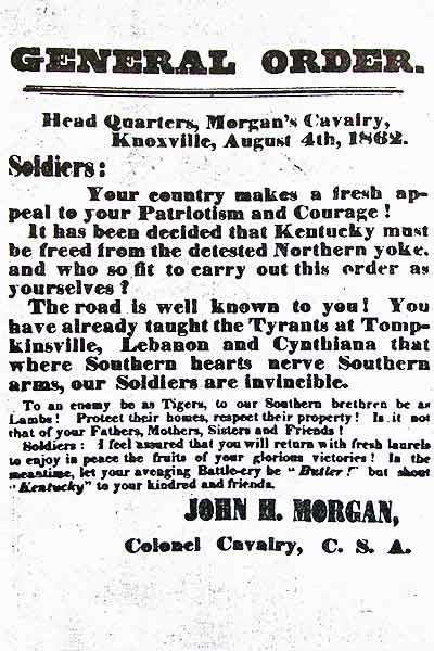 Morgan general order