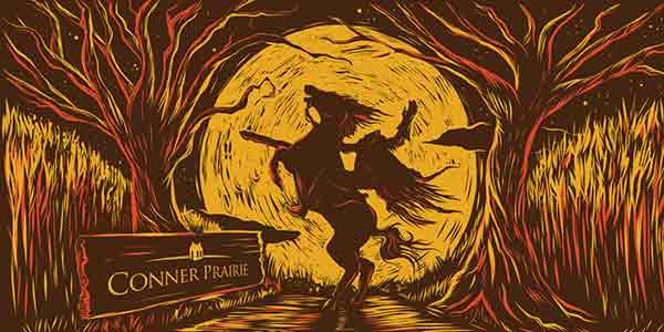 Sun King - Conner Prairie Growler Label 2019