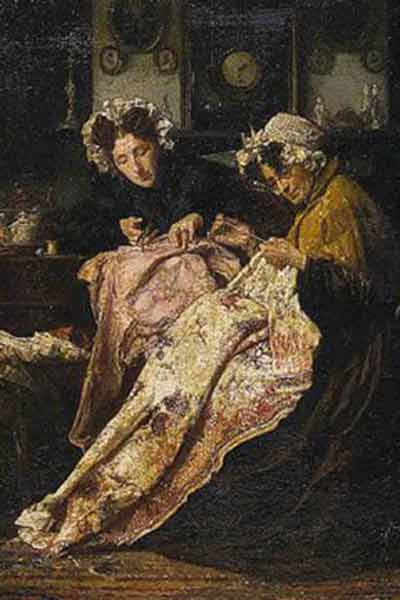 'The Seamstress' by Alexander Hugo Bakker Korff - Image from the Saint Louis Art Museum
