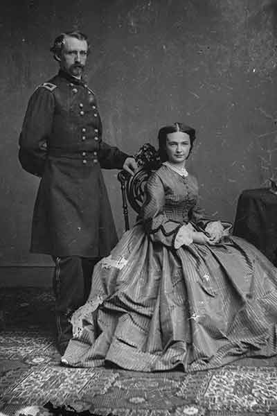 George Armstrong Custer and Elizabeth Bacon Custer