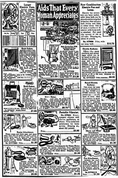 Sears catelog page sample