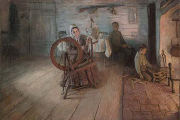 'Spinning by Firelight' (1894) by Henry Ossawa Tanner, Yale University Art Gallery, Leonard C. Hanna, Jr. Class of 1913 Fund