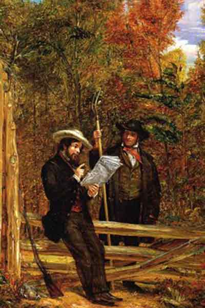 The Herald In The Country (1853) William Sidney, Museums At Stony Brook
