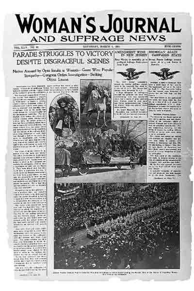 newspaper headline - Sufferage