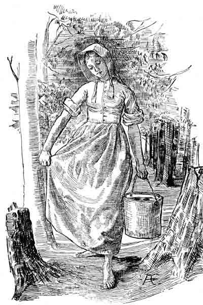 woman carrying water pail