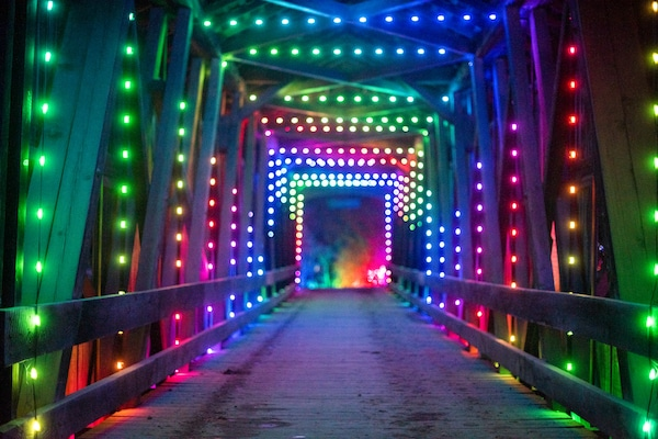Covered Bridge with Lights