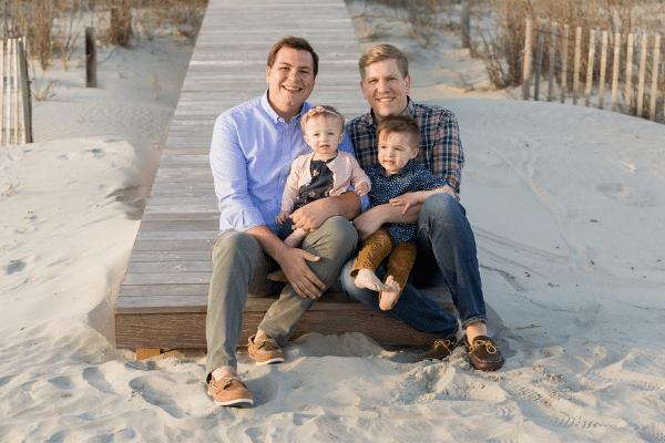 Andrew Bradford with his family