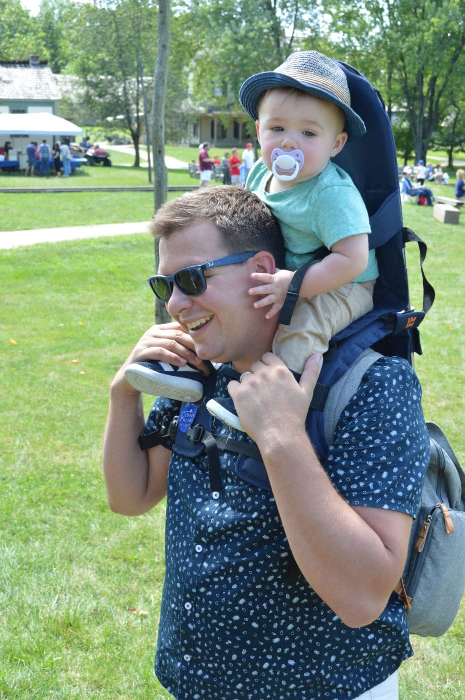 Andrew Bradford, Vice President and Chief Advancement Officer at Conner Prairie with his son