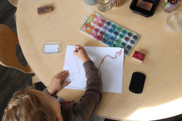Preschool student drawing