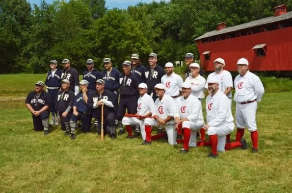 Historic Baseball teams pose for a team picture