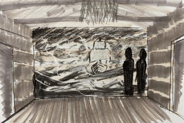Drawing of exhibit rendering