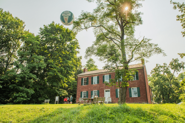 Balloon Over William Conner House