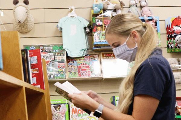 Customer Shopping In Conner Prairie Store