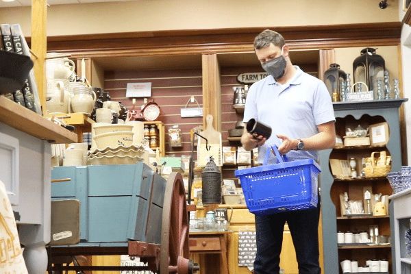 Customer Shopping In The Conner Prairie Store