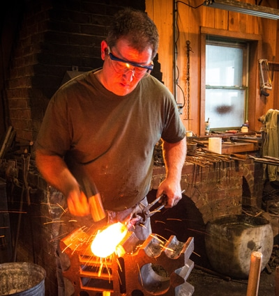 Nathan Allen, craftsman and Arts & Arms instructor