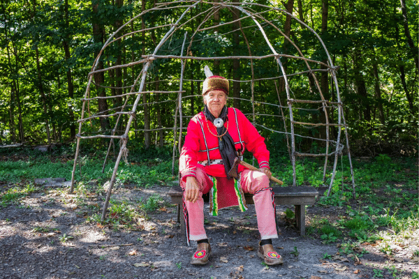 Mike Pace In Traditional Lenape Clothing