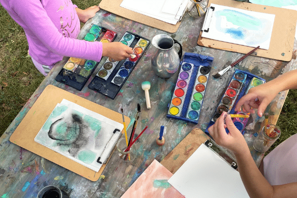 Watercolor Painting Station