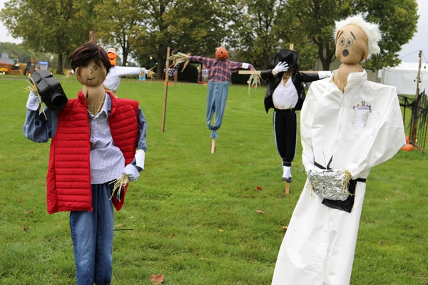 Back to the Future themed scarecrows