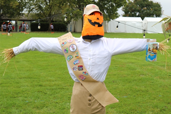 Scarecrow Dressed as Girl Scout