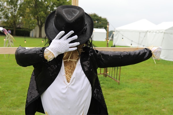 Scarecrow dressed as Michael Jackson