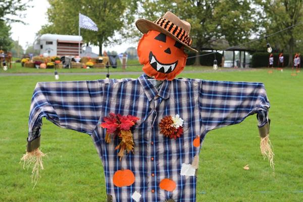 Scarecrow dressed for autumn
