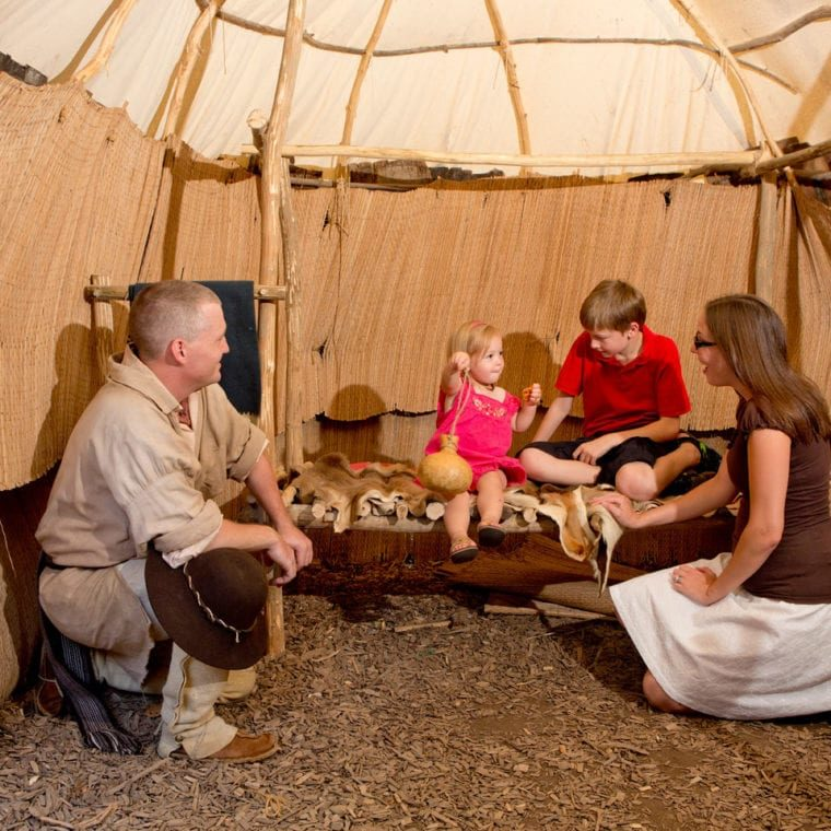 Lenape Indian Camp - inside wigwam